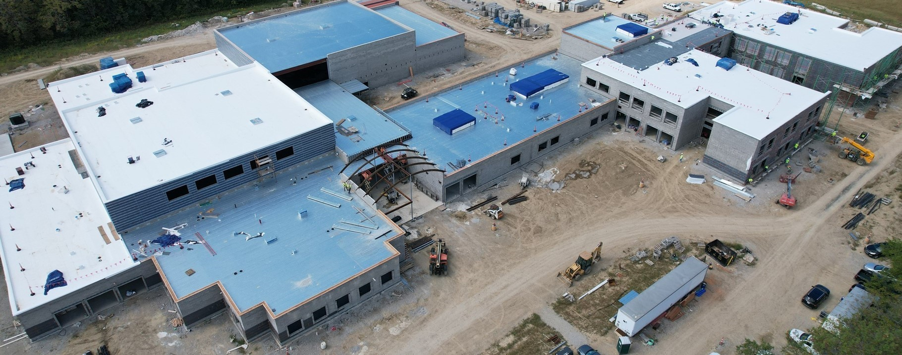 Arial view of new building